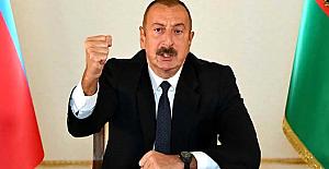"""Azerbaycan Cumhurbaşkanı Aliyev: """"Ermenistan'ın namert hareketleri Azerbaycan Halkının iradesini kıramayacak"""""""