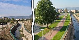 Büyükşehir Belediyesi Kestel Mandıras Deresi civarını ıslah ediyor