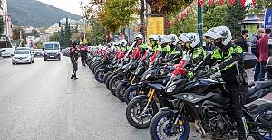 Motorize ekiplerden Cumhuriyet Bayramı gösterileri