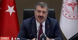"""Sağlık Bakanı Koca'dan İstanbul uyarısı: """"10 Hastadan 4'ü İstanbul'da. Durum kontrolden çıkabilir"""""""