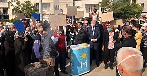 """Şirinevler'de doğalgaz isyanı; """"Türkoğlu'ndan sıradışı sobalı protesto"""""""