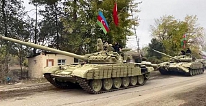 Azerbaycan ordusu 27 yıldır işgal altında bulunan Kelbecer'e girdi