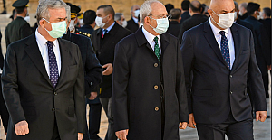 """Kemal Kılıçdaroğlu: """"Büyük Önder Mustafa Kemal Atatürk'ü, ebediyete intikal edişinin 82'nci yıldönümünde saygı, minnet ve özlemle anıyorum"""""""
