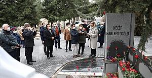 18 Aralık 2002'de menfur bir saldırıyla katledilen Necip Hablemitoğlu törenle anıldı