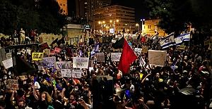 İsrail´deki Netanyahu karşıtı gösteriler durmak bilmiyor