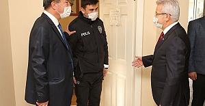Erdem ve Arslan'dan polis merkezlerine yeni yıl ziyareti