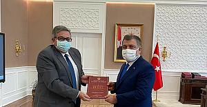 Rus Büyükelçi Yerhov, Sağlık Bakanı Koca ile görüştü