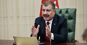 """Sağlık Bakanı Koca: """"Alınan tedbirlerle vaka sayısında %80'e varan hızlı bir düşüş sağlandı.."""""""