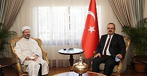 Diyanet İşleri Başkanı Prof. Dr. Erbaş'tan Vali Canbolat'a Ziyaret