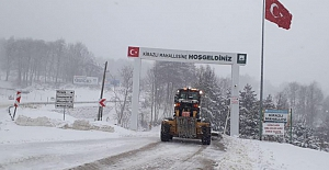 Karla mücadelede yoğun mesai