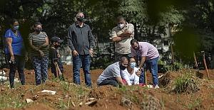 Brezilya'da son 24 saatte 2 bin 216 kişi Covid-19'dan hayatını kaybetti