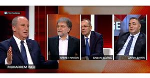 """Muharrem İnce CNNTürk'te konuştu: """"Yüzde 49'a razı değiliz. Yüzde 50+1 almak için çalışacağız"""""""