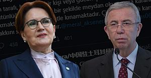 Çin Büyükelçiliği'nden Mansur Yavaş ve Meral Akşener'e tehdit gibi mesaj