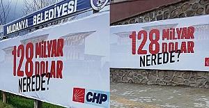 Mudanya'da CHP'nin '128 milyar dolar nerede' afişleri söküldü; soruşturma başlatıldı