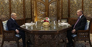 Ramazan'ın üçüncü gününde Erdoğan ve Bahçeli 'Özbek Otağı'nda iftar yaptılar