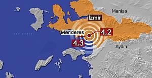 İzmir'in Menderes ilçesinde art arda iki deprem meydana geldi.