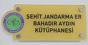 Şehit Jandarma'nın ismi Okul Kütüphanesine verildi