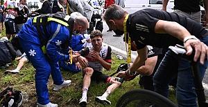 Fransa Bisiklet Turu'nda kazaya neden olan şahıs gözaltına alındı