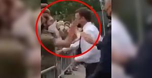 Fransa Cumhurbaşkanı Emmanuel Macron protestocudan tokat yedi!