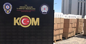 Ankara'da 12 ton kaçak etil alkol ele geçirildi