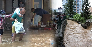 Artvin'de yağış etkili oluyor! Arhavi İlçesi yine sele teslim