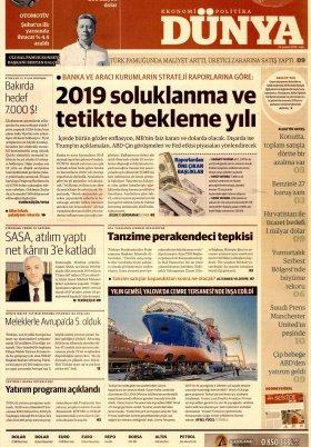 Bursa Arena / Haber Merkezi - 19.02.2019 Manşeti