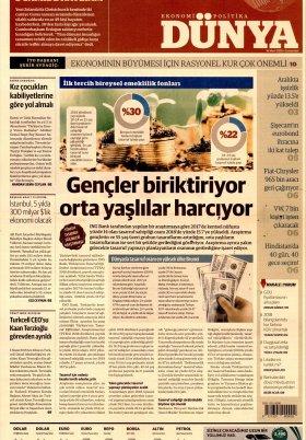 Bursa Arena / Haber Merkezi - 17.03.2019 Manşeti