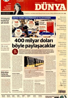Bursa Arena / Haber Merkezi - 15.06.2019 Manşeti