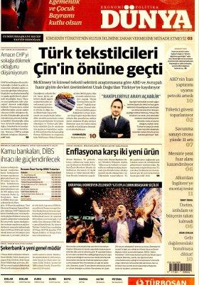 Bursa Arena / Haber Merkezi - 23.04.2019 Manşeti