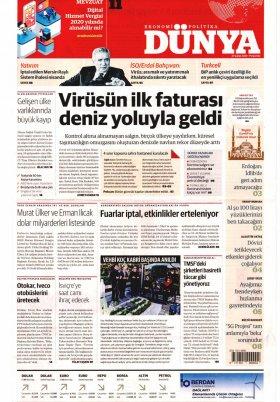 Bursa Arena / Haber Merkezi - 27.02.2020 Manşeti