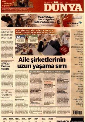Bursa Arena / Haber Merkezi - 14.07.2018 Manşeti