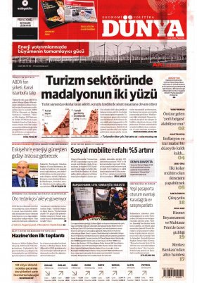 Bursa Arena / Haber Merkezi - 20.01.2020 Manşeti