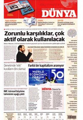 Bursa Arena / Haber Merkezi - 21.01.2020 Manşeti