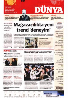 Bursa Arena / Haber Merkezi - 23.01.2020 Manşeti