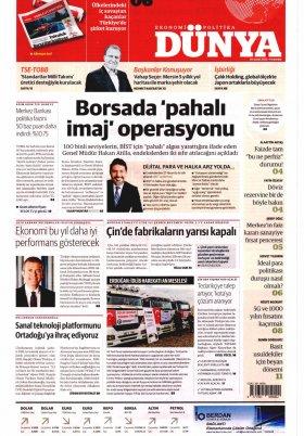 Bursa Arena / Haber Merkezi - 20.02.2020 Manşeti