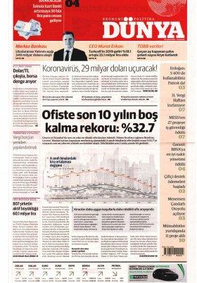 Bursa Arena / Haber Merkezi - 22.02.2020 Manşeti
