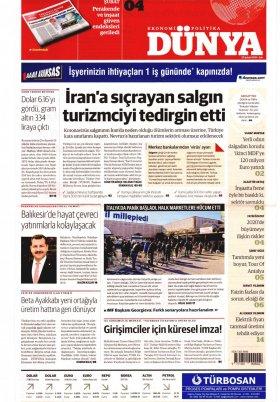 Bursa Arena / Haber Merkezi - 26.02.2020 Manşeti