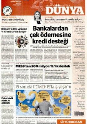 Bursa Arena / Haber Merkezi - 28.03.2020 Manşeti