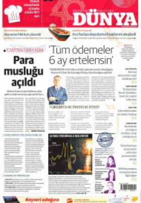 Bursa Arena / Haber Merkezi - 01.04.2020 Manşeti
